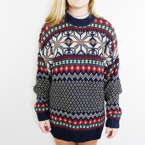 "90's VTG Abercrombie Fair Isle Knit ""Big Sweater"""
